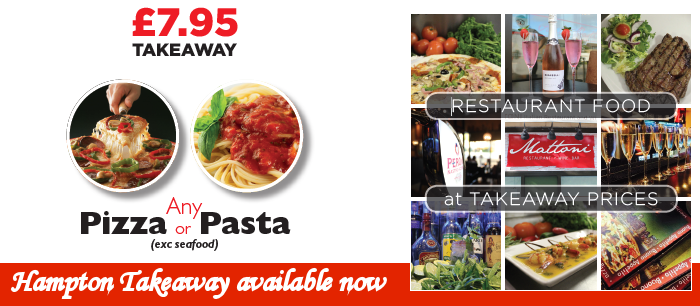 Takeaway Menu - Hampton only